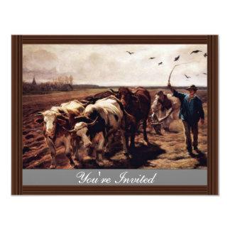Plügende Ox By Koller Rudolf (Best Quality) Invitations