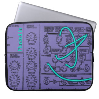 Plugged-in Synthesizer Music Laptop Sleeves