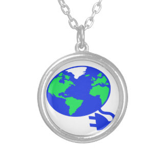 plugged in world copy.jpg silver plated necklace