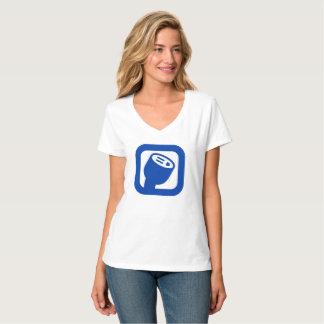 PlugShare Logo Women's V-Neck Shirt