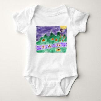 Pluie et rivière de citrouilles baby bodysuit