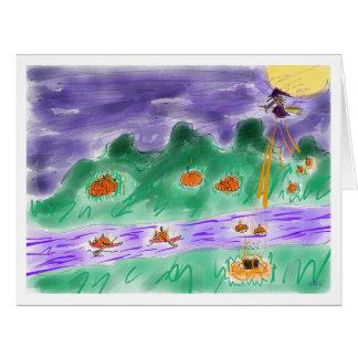 Pluie et rivière de citrouilles card