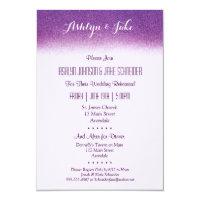 Plum 3.5x5 Wedding Rehearsal and Dinner Invitation