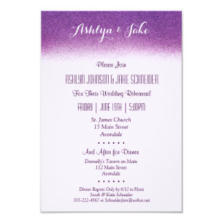 Plum 3.5x5 Wedding Rehearsal and Dinner Invitation