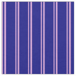 [ Thumbnail: Plum and Blue Colored Stripes Fabric ]