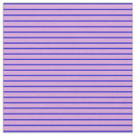 [ Thumbnail: Plum and Blue Colored Stripes/Lines Pattern Fabric ]
