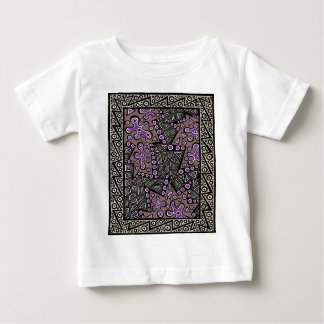 Plum and Brown Maze In The MIddle Baby T-Shirt