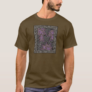 Plum and Brown Maze In The MIddle T-Shirt
