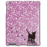 Plum and cat iPad case