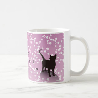 Plum and cat magnetic cup