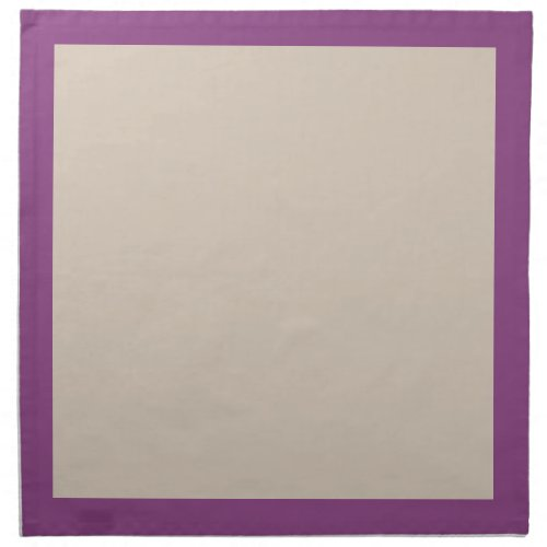 Plum and Champagne-Colored Napkins