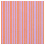 [ Thumbnail: Plum and Coral Colored Pattern of Stripes Fabric ]