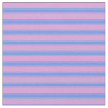 [ Thumbnail: Plum and Cornflower Blue Colored Stripes Fabric ]