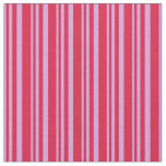 [ Thumbnail: Plum and Crimson Colored Stripes Pattern Fabric ]