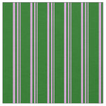 [ Thumbnail: Plum and Dark Green Colored Pattern Fabric ]