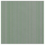 [ Thumbnail: Plum and Dark Green Colored Pattern of Stripes Fabric ]
