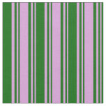 [ Thumbnail: Plum and Dark Green Colored Striped/Lined Pattern Fabric ]