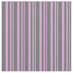 [ Thumbnail: Plum and Dim Gray Lines/Stripes Pattern Fabric ]