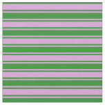 [ Thumbnail: Plum and Forest Green Lined/Striped Pattern Fabric ]