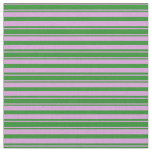 [ Thumbnail: Plum and Forest Green Lines Fabric ]