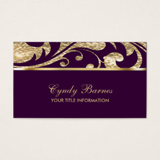 Plum and Gold Contemporary  Business Card