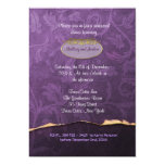 Plum and Gold Damask Rehearsal Dinner Invitation Cards