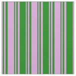 [ Thumbnail: Plum and Green Colored Pattern Fabric ]