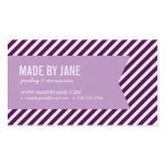 Plum and Lilac Purple Modern Stripes and Ribbon Business Card Template