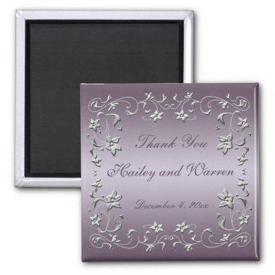 wedding plum favors flowers