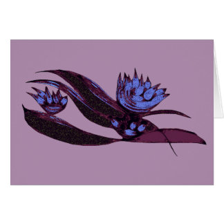 Plum And Purple Alien Vegetable Card