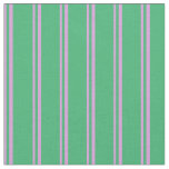[ Thumbnail: Plum and Sea Green Colored Pattern of Stripes Fabric ]