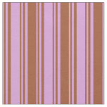 [ Thumbnail: Plum and Sienna Pattern Fabric ]
