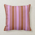 [ Thumbnail: Plum and Sienna Pattern Throw Pillow ]
