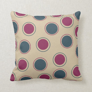 Plum and Teal Circles American MOJO Pillow