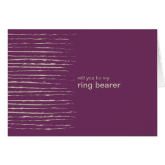 Plum Be My Ring Bearer Invitation Card