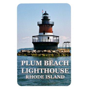 Plum Beach Lighthouse, Rhode Island Photo Magnet