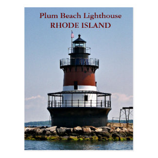 Plum Beach Lighthouse, Rhode Island Postcard