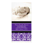 Plum Black Thank You Baby Shower Photo Cards