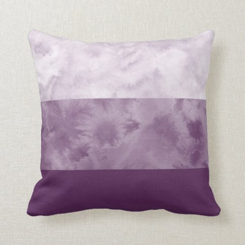 Plum Block Stripes Throw Pillow