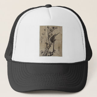 Plum Blossom and Bush Warbler by Hiroshige Trucker Hat