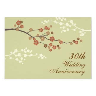 Plum Blossom Anniversary Party Invitation S-Yellow