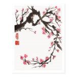 Plum Blossom Curve Postcard