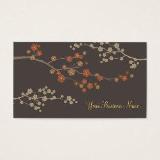 Plum Blossom Custom Business Card Gray
