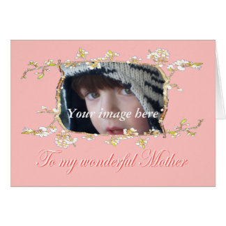 Plum blossom custom frame,Mother's Day Card