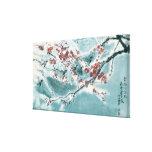 Plum Blossom in Snow Canvas Print