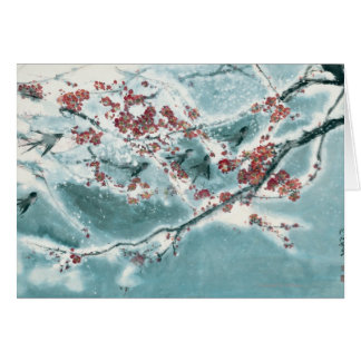 Plum Blossom in Snow Greeting Card
