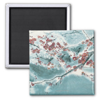 Plum Blossom in Snow Refrigerator Magnets