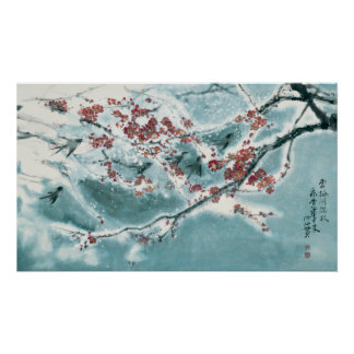 Plum Blossom in Snow Posters