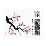 Plum Blossom Postage Stamps