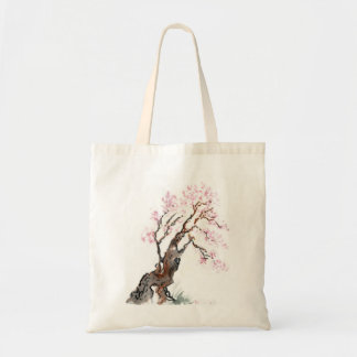 Plum Blossom Spring, Sumi-e in color Tote Bag